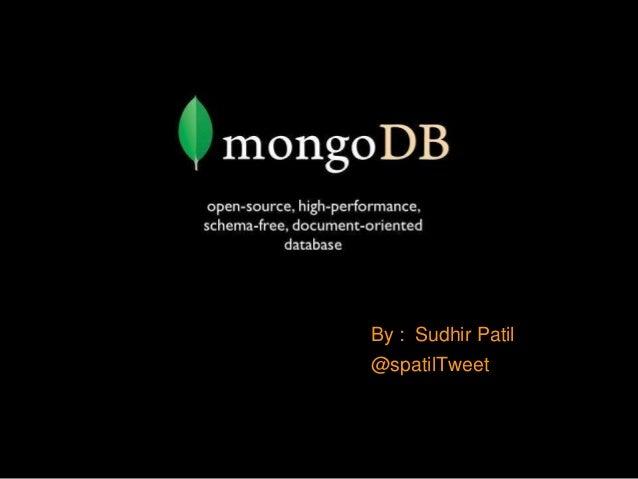 By : Sudhir Patil @spatilTweet