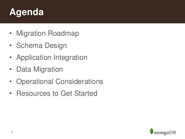 Migrating from Relational Databases to MongoDB Slide 2