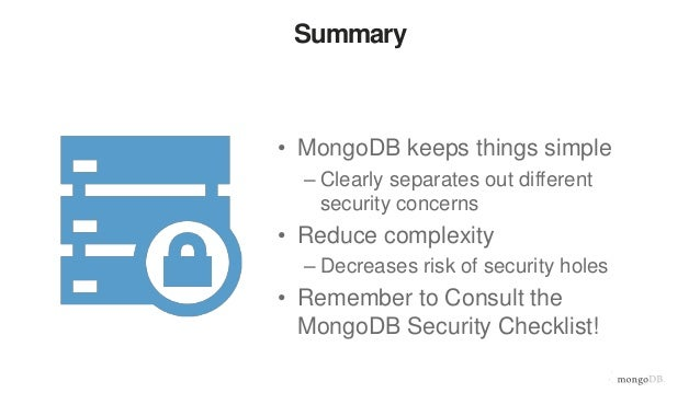 Beyond the basics 4 how to secure your mongodb database for Mongodb consul
