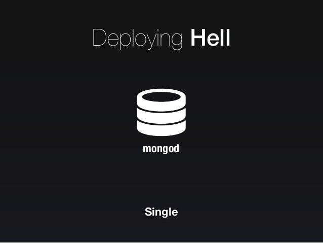 Deploying Hell Replication Replication PRIMARY SECONDARY SECONDARY Replicaset