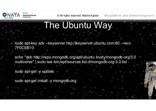 MongoDB training for java software engineers