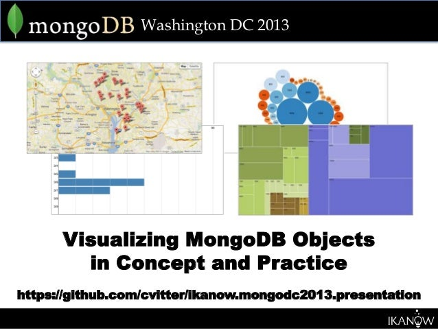 Washington DC 2013      Visualizing MongoDB Objects        in Concept and Practicehttps://github.com/cvitter/ikanow.mongod...