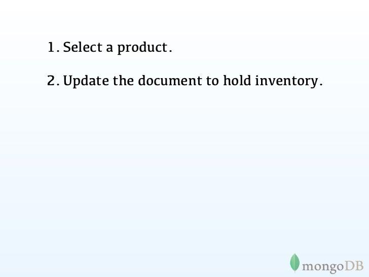 MongoDB e-commerce    transactions