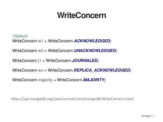 WriteConcern.ACKNOWLEDGED