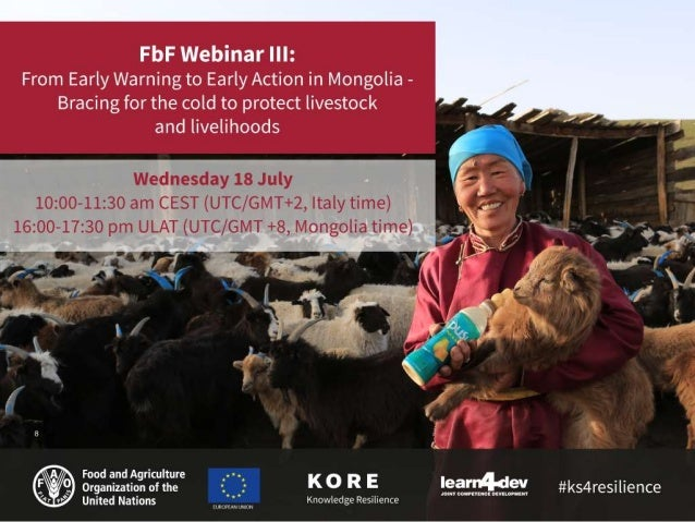 Speakers: Jigjidpurev Sukhbaatar, Livestock Emergency Projects Coordinator and Early Warning Early Action focal point, FAO...