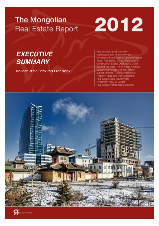 EXECUTIVE SUMMARY Inclusive of the Consumer Price Index