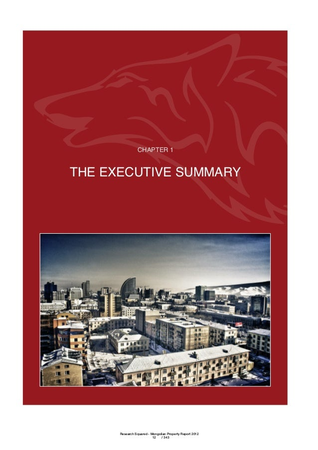 The 2011 Mongolian Real Estate Report
