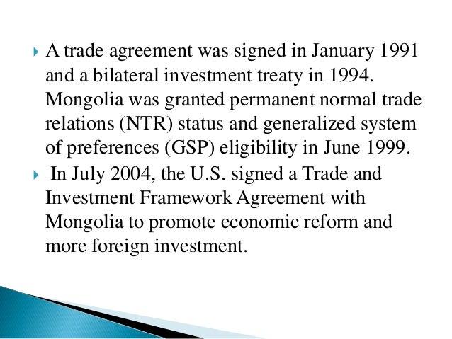 Mongolia – United States Relations
