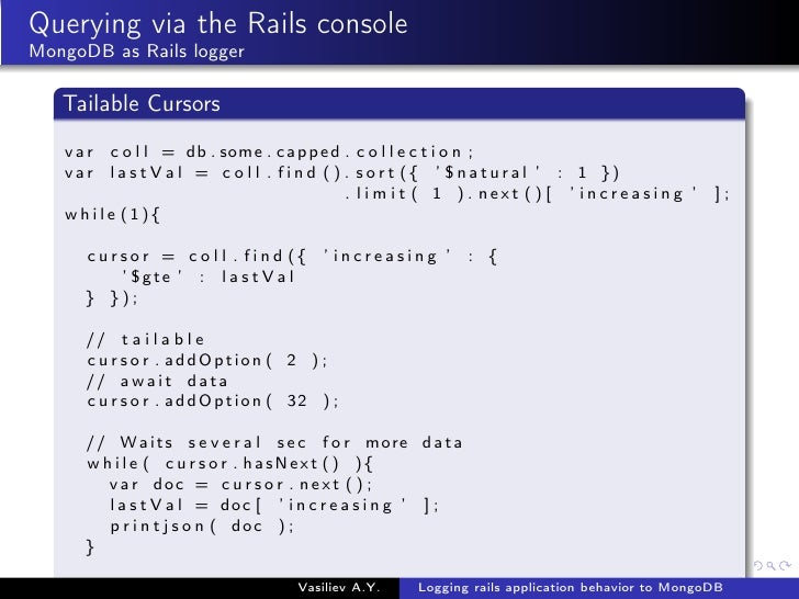 Logging rails application behavior to MongoDB