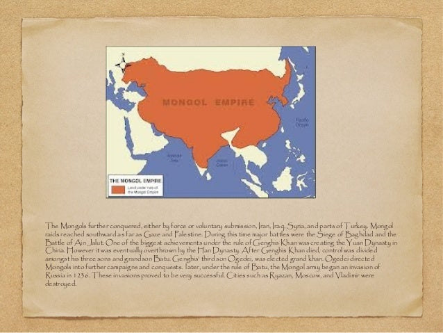 mongols conquest essay They also had their hands on the social and cultural policies of china the mongol conquest of russia reduced the russian princes to tribute-payers.