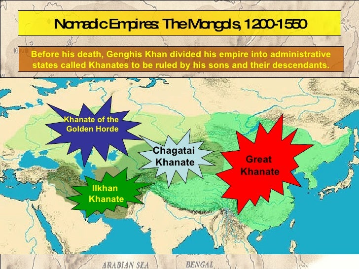 Mongols Il Kahn Khanate Location World Map on