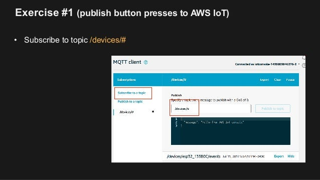 AWS IoT with ESP32 and Mongoose OS