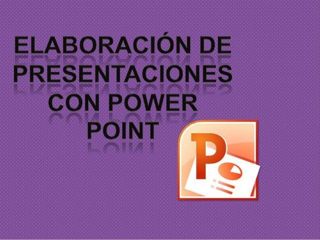 PowerPoint es un programa para producir presentaciones electrónicas con aspecto profesional. Éste permite incorporar texto...