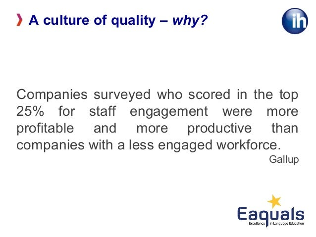 the characteristics that maintains quality culture 5 characteristics of quality culture   initiative reinforce and maintain: • to  maintain a quality culture, reinforce the quality‐related attitudes.