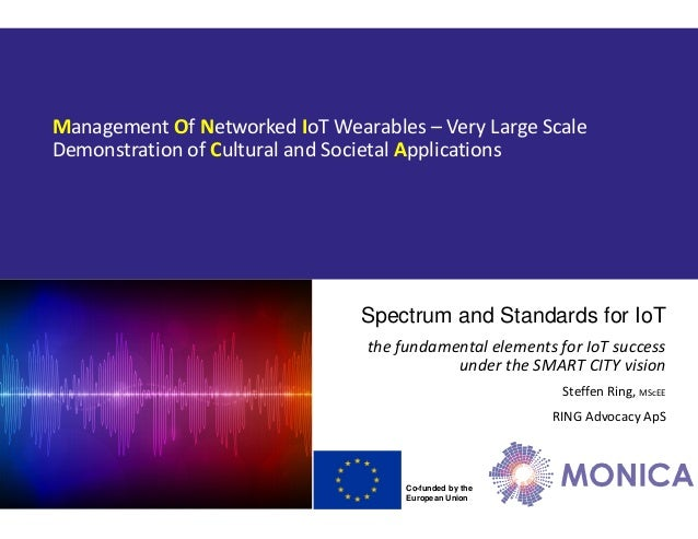 Co-funded by the European Union Management Of Networked IoT Wearables – Very Large Scale Demonstration of Cultural and Soc...