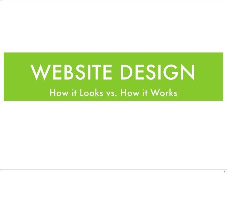 WEBSITE DESIGN  How it Looks vs. How it Works                                      1