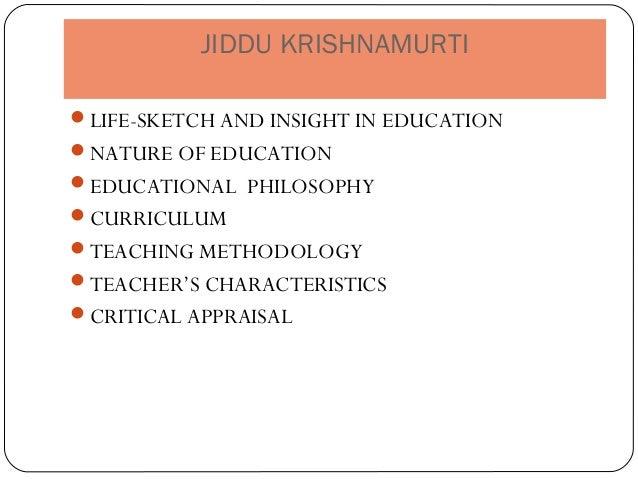 the function of education by jiddu krishnamurti