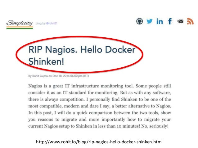 Dockerイメージで楽ちん〜 1. WebUI – Shinken WebUI基本形 – http://localhost/ 2. Thruk UI – Thruk入りWebUI – http://localhost/thruk/ 3. Gr...