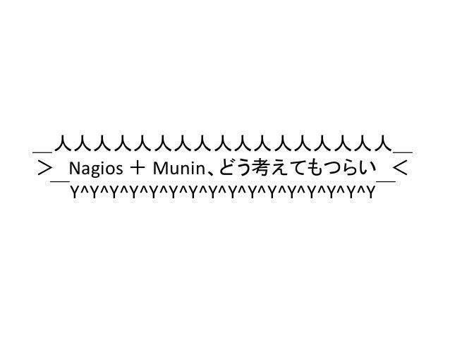 _人人人人人人人人人人人人人人人人人_ > Nagios + Munin、どう考えてもつらい <  ̄Y^Y^Y^Y^Y^Y^Y^Y^Y^Y^Y^Y^Y^Y^Y^Y ̄
