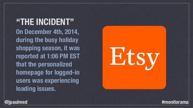"""""""THE INCIDENT"""" On December 4th, 2014, during the busy holiday shopping season, it was reported at 1:06 PM EST that the per..."""
