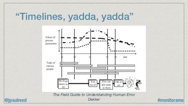 """Timelines, yadda, yadda"" The Field Guide to Understanding Human Error Dekker@jpaulreed #monitorama"
