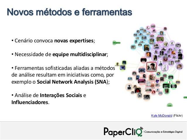 Novos métodos e ferramentas • Cenário convoca novas expertises; • Necessidade de equipe multidisciplinar; • Ferramentas so...