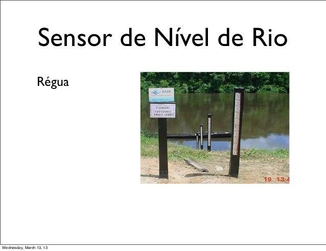Sensor de Nível de Rio                 RéguaWednesday, March 13, 13