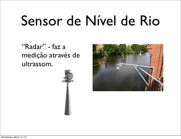 """Sensor de Nível de Rio                  """"Radar"""" - faz a                  medição através de                  ultrassom.Wed..."""