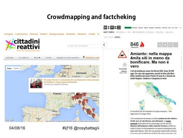 04/08/16 #ijf16 @rosybattaglia Crowdmapping and factcheking