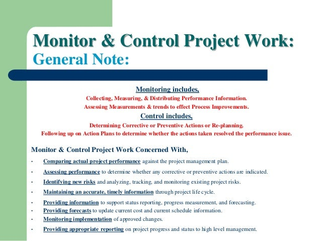 project monitoring and control techniques pdf