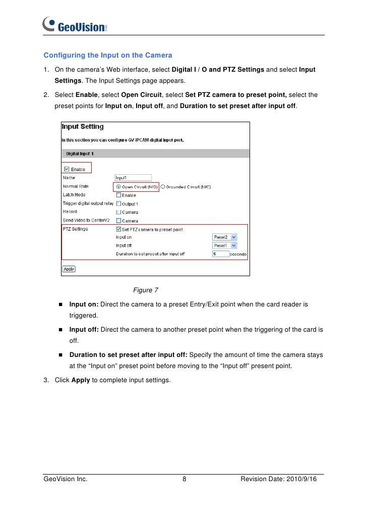 GeoVision GVPT110D Quick Start Manual