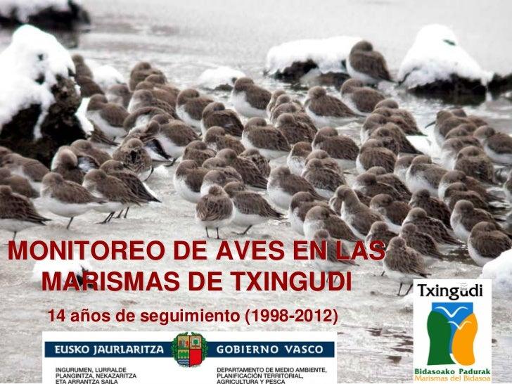 MONITOREO DE AVES EN LAS  MARISMAS DE TXINGUDI  14 años de seguimiento (1998-2012)