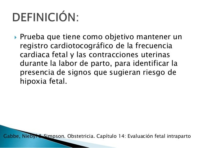 Monitoreo electrónico fetal Slide 2