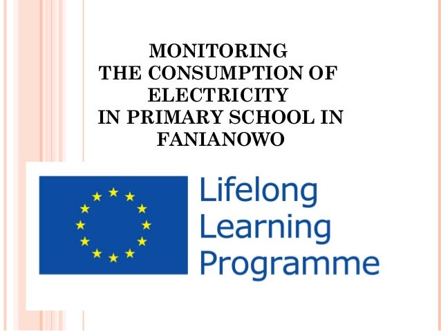 MONITORING THE CONSUMPTION OF ELECTRICITY IN PRIMARY SCHOOL IN FANIANOWO
