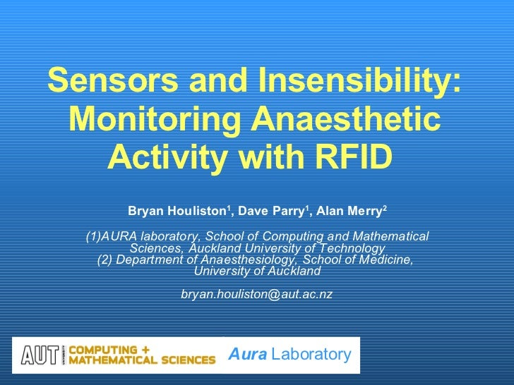 Sensors And Insensibility Monitoring Anaesthetic