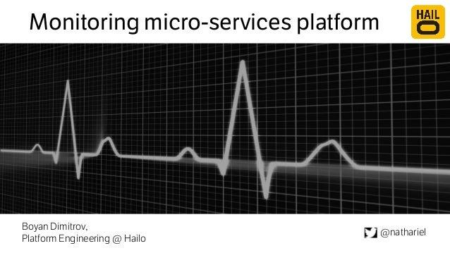 Monitoring micro-services platform  Boyan Dimitrov,  Platform Engineering @ Hailo @nathariel