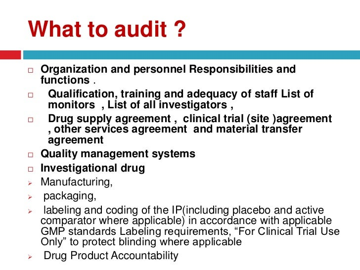 Monitoring And Auditing In Clinical Trials