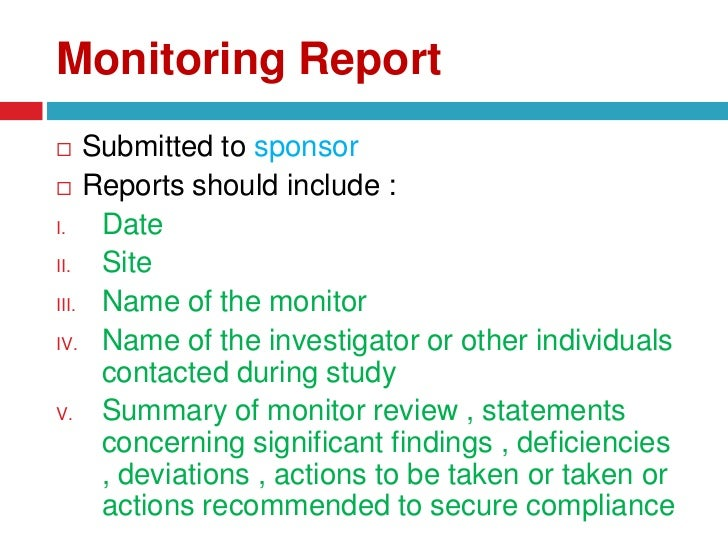 Clinical trial report template costumepartyrun monitoring and auditing in clinical trials maxwellsz