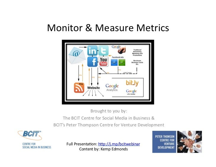 Monitor & Measure Metrics<br />Brought to you by:<br />The BCIT Centre for Social Media in Business & <br />BCIT's Peter T...