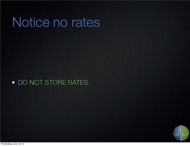 Notice no ratesDO NOT STORE RATES.Wednesday, June 19, 13
