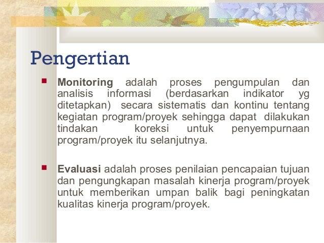 Monitoring dan evaluasi Slide 2
