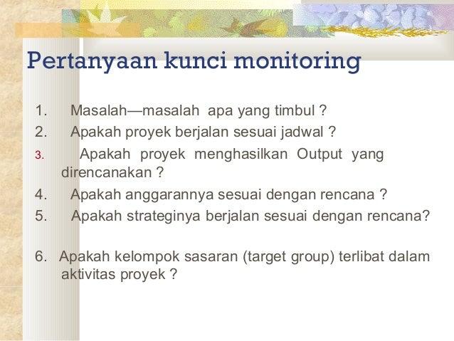 Monitoring dan evaluasi Slide 3