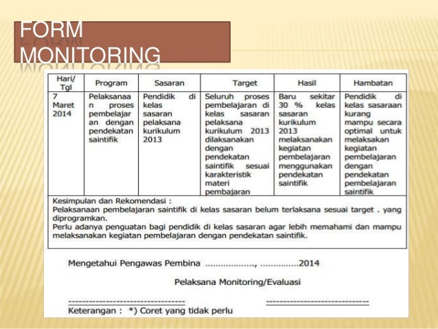 Contoh Format Laporan Kegiatan Monitoring Dan Evaluasi Kumpulan Contoh Laporan