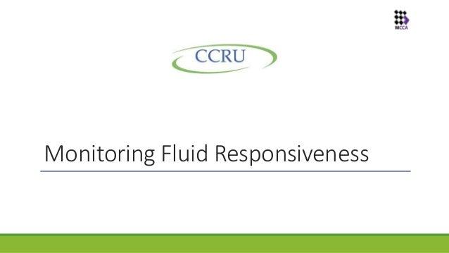 Monitoring Fluid Responsiveness in ICU