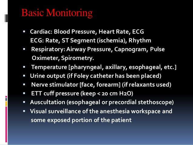 Monitoring Modality in anesthesia