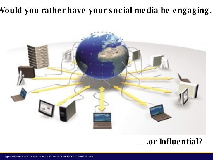 Would you rather have your social media be engaging… ….or Influential?