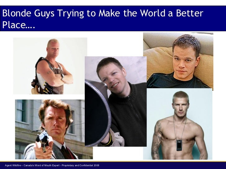 Blonde Guys Trying to Make the World a Better Place….