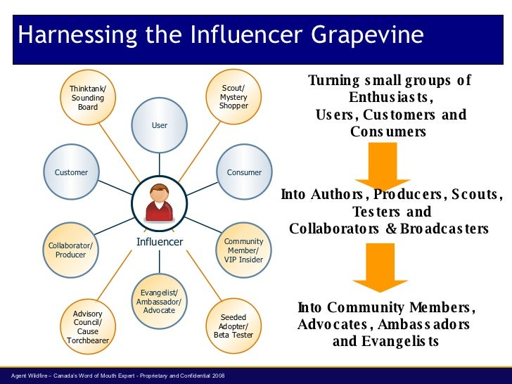 Harnessing the Influencer Grapevine Turning small groups of  Enthusiasts, Users, Customers and Consumers  Into Authors, Pr...