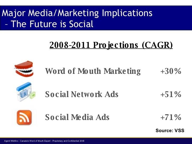 Major Media/Marketing Implications  – The Future is Social <ul><li>Word of Mouth Marketing +30% </li></ul><ul><li>Social N...