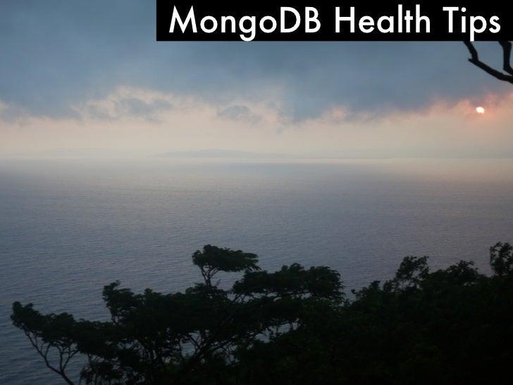 MongoDB Health Tips